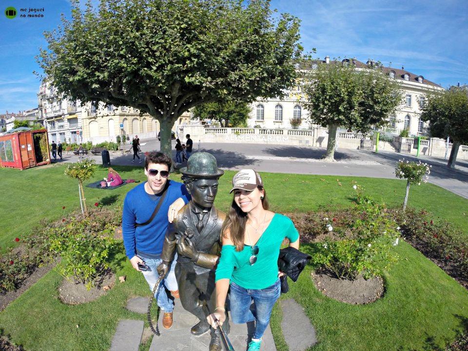 estatua chales chaplin montreux riviera