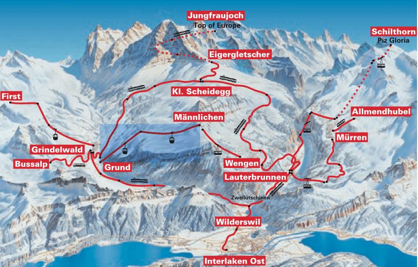 passeios alpes interligne e jungfrau