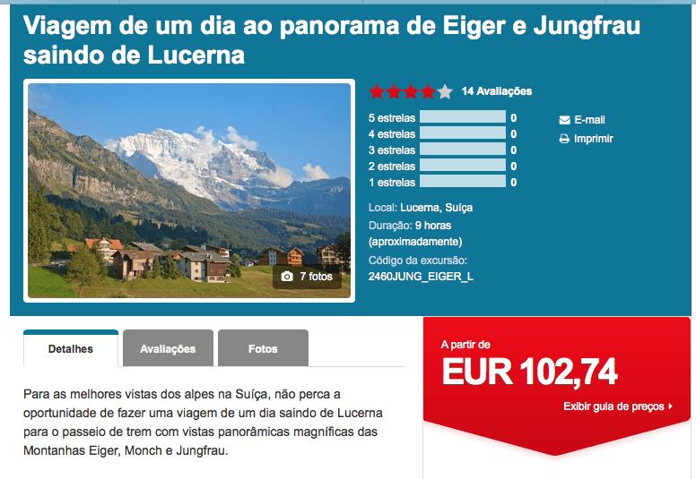 excursoes interlaken suiça