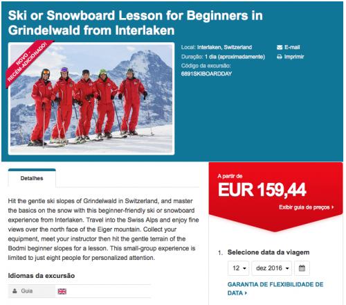 aula de esqui e snowboard suiça