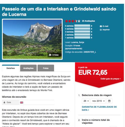 excursao interlaken e grindelwald
