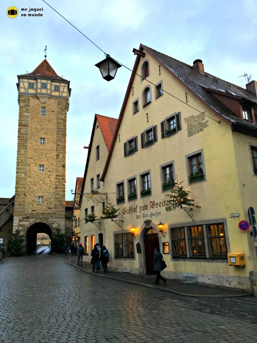 torres e muralha rothenburg ob der tauber