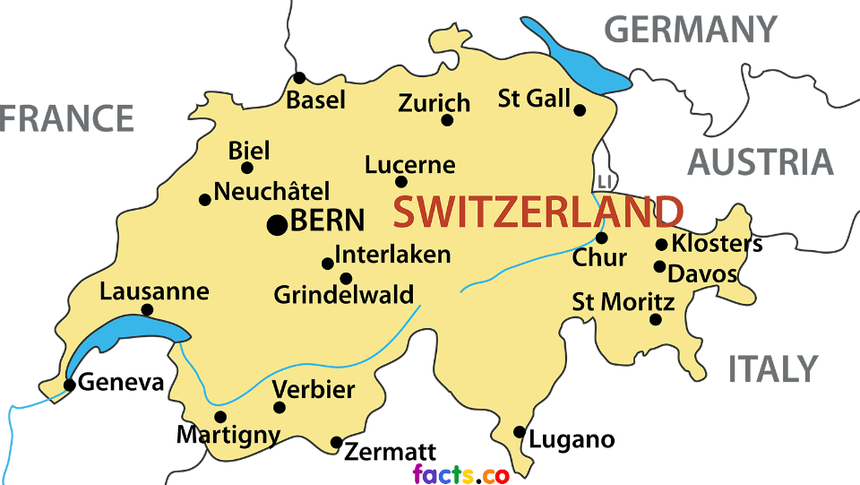 mapa suiça cidades