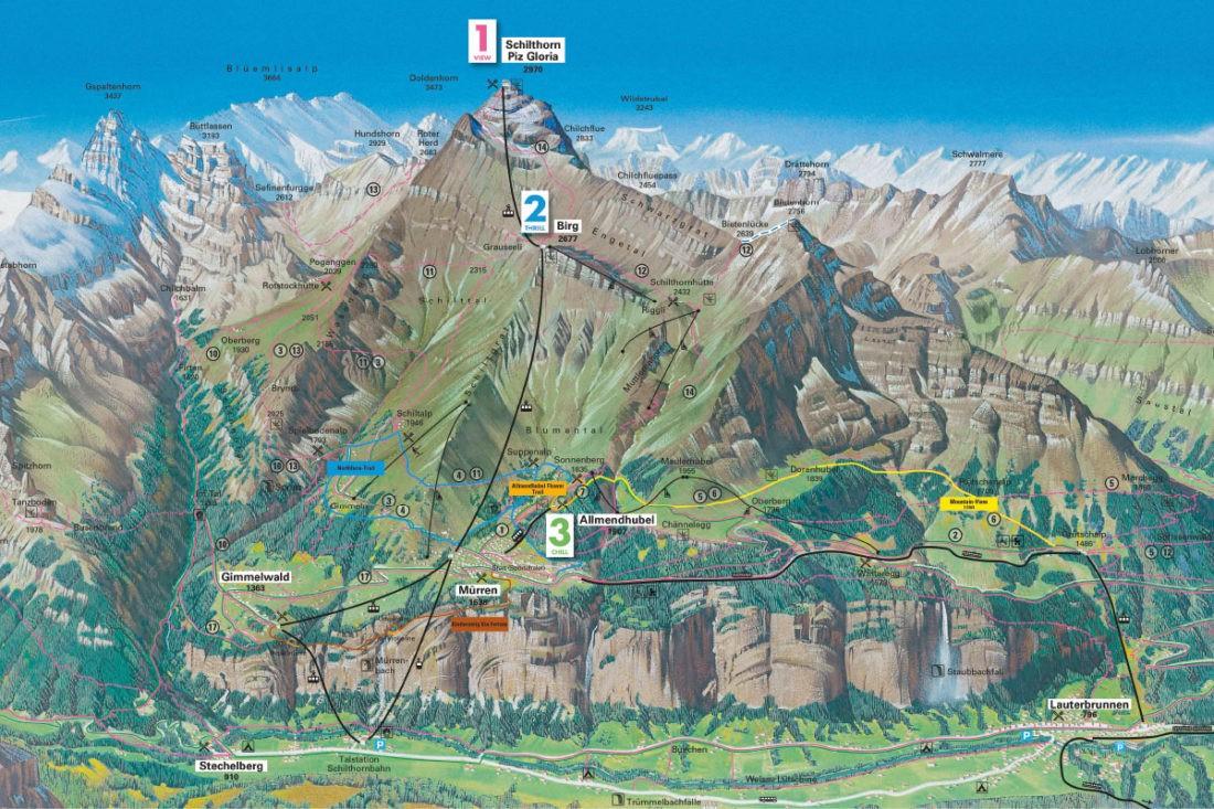 o que fazer na montanha schilthorn