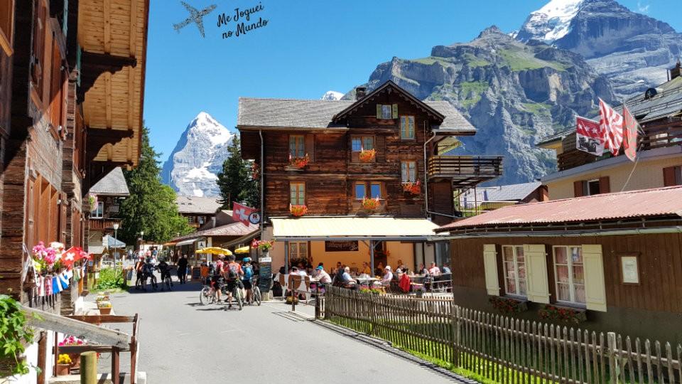 vila mürren e gimmelwald na suica