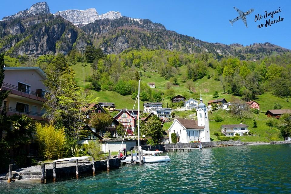 vilas lago lucerne passeio de barco