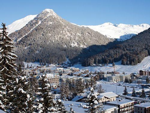 davos no inverno suiça