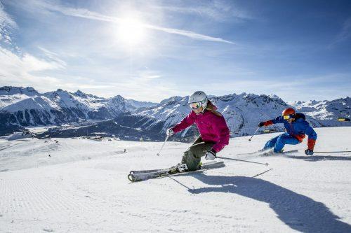 esquiar no inverno na suiça