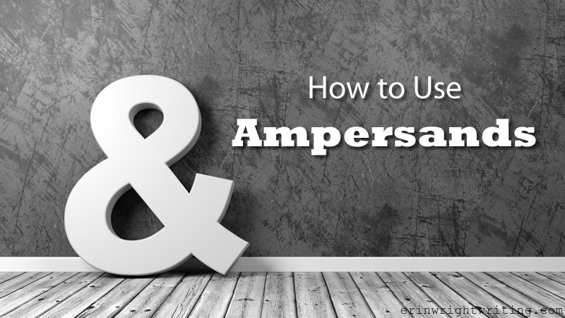 Image of Big Ampersand in a Room | How to Use Ampersands
