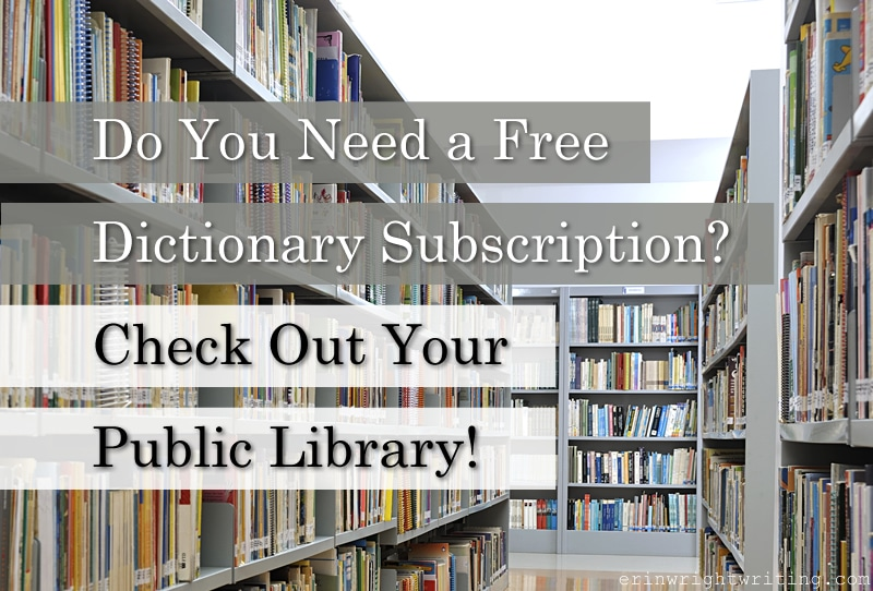 Image of Library Stacks   Do You Need a Free Dictionary Subscription? Check Out Your Public Library