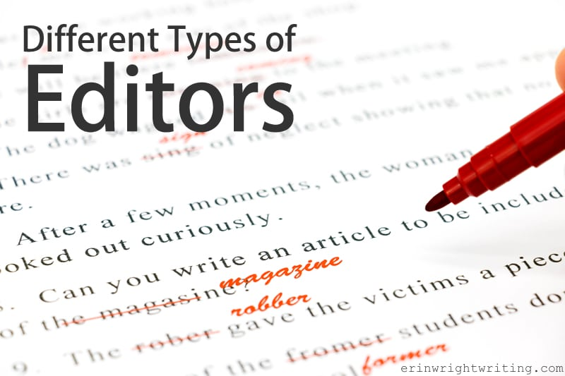 Different Types of Editors   Image of Red Pen and Editing Marks