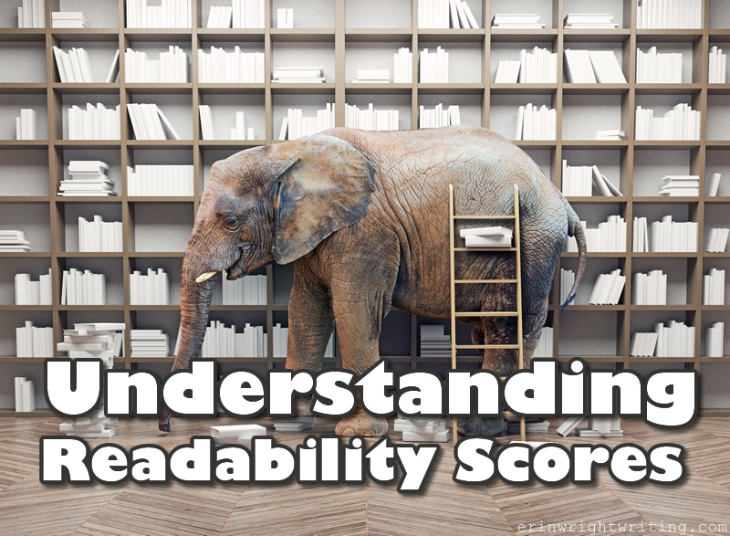 Understanding Readability Scores   Image of Elephant in Front of Bookcase