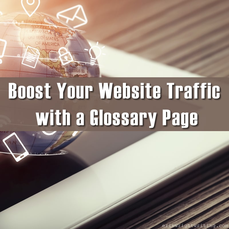 Boost Your Website Traffic with a Glossary Page   Image of Globe Spinning above Tablet