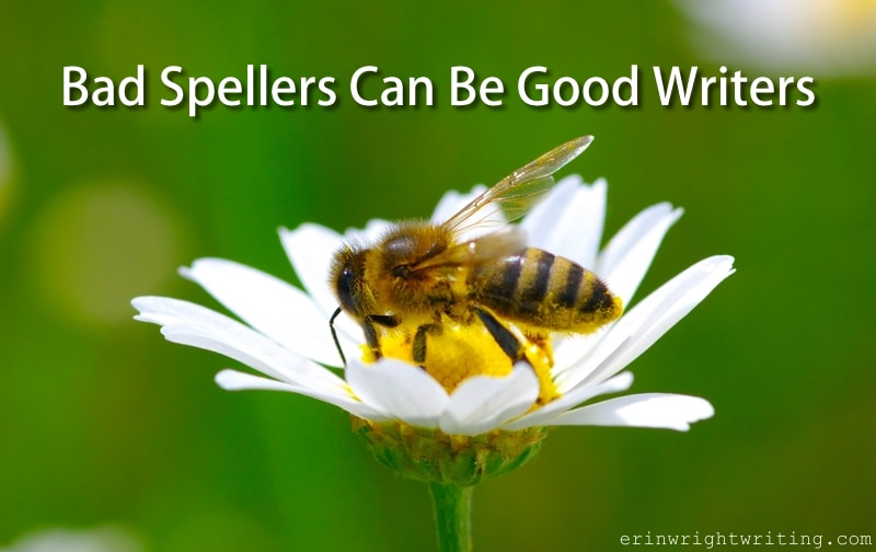 Bad Spellers Can Be Good Writers   Bee on flower