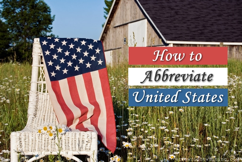 Image of Rural Scene with American Flag | How to Abbraviate United States