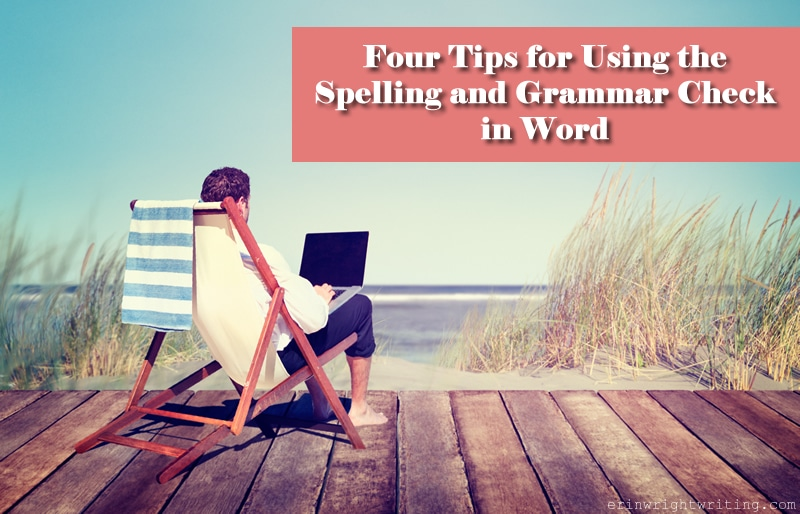 Image of Man Using Laptop on Dock | Four Tips for Using the Spelling and Grammar Check in Word