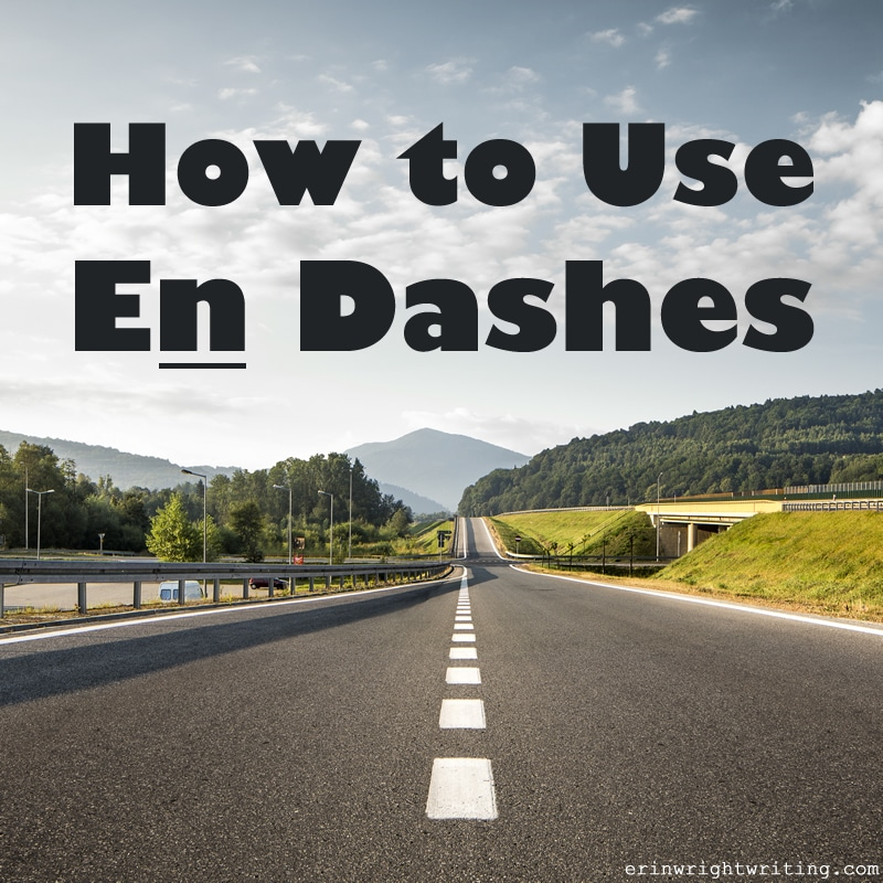 How to Use En Dashes | Image of Highway Dashes