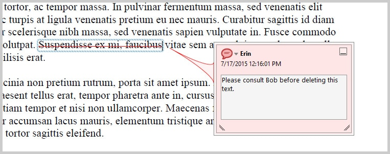 Adobe Acrobat DC Comment Reply