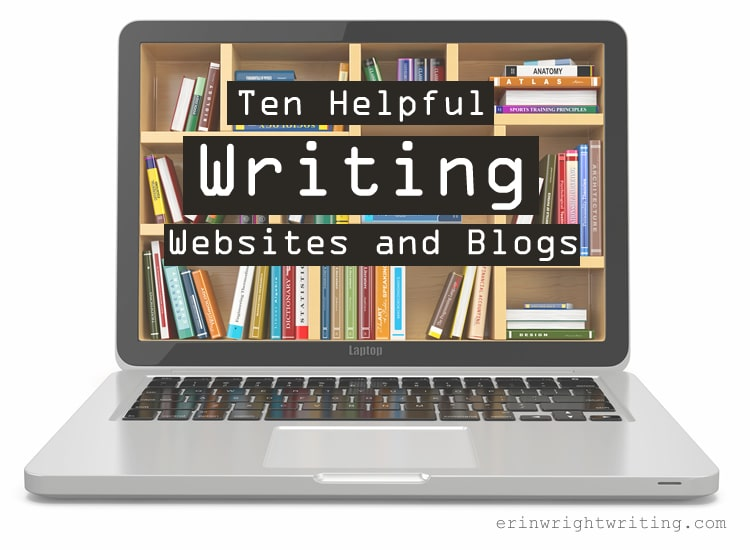 Ten Helpful Writing Websites and Blogs   Image of books on laptop screen