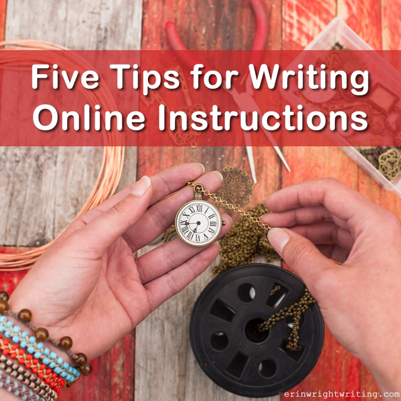 Five Tips for Writing Online Instructions | Image of Jewelry Making