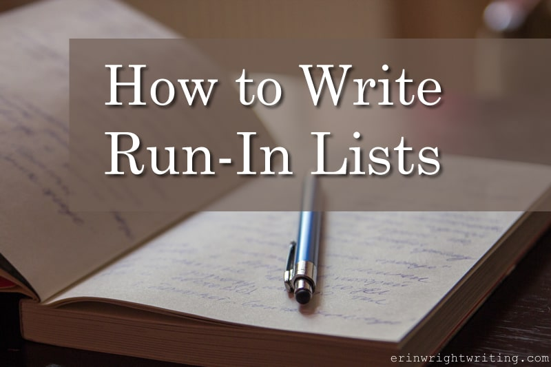 Image of Pen in Notebook   How to Write Run-In Lists