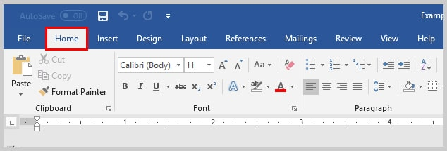 Image of Microsoft Word Home Tab | How to Search Within Comments in Microsoft Word