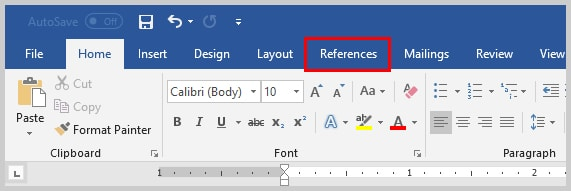 Image of Microsoft Word References TAb | How to Convert Individual Footnotes to Endnotes