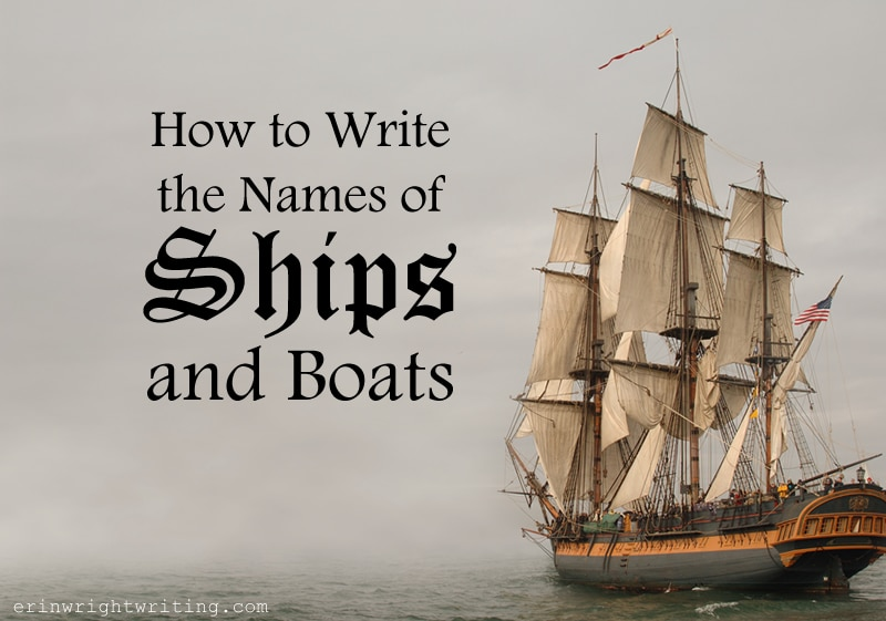 Image of Antique Ship | How to Write the Names of Ships and Boats