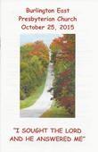 2015-10-25 Bulletin