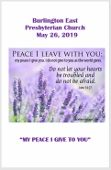 2019-05-26 – My peace I give to you