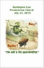 2019-07-21 – Martha and Mary – the ant and the grasshopper?