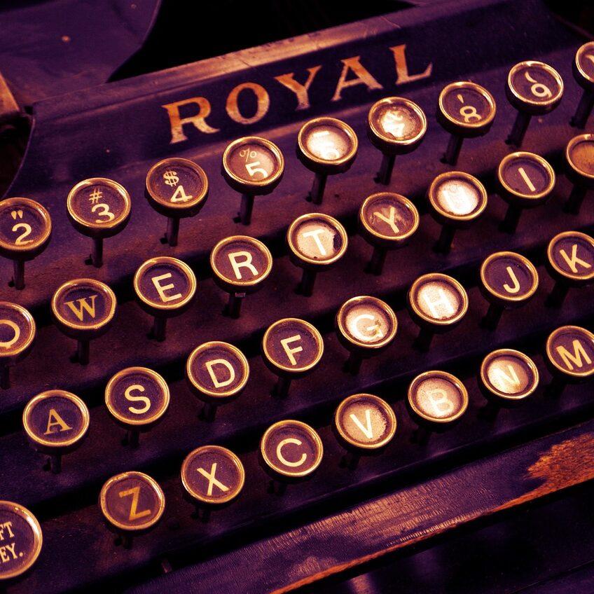 typewriter aleza freeman home
