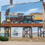 Rock Island railroad mural