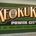 Mural celebrating 100th anniversary of completion of the hydroelectric dam