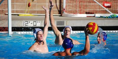 Dos Pueblos' Daniel Senn gets his arm up on defense