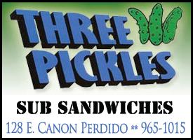Three Pickles Sub Sandwiches