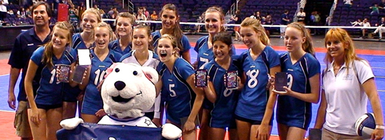 The Santa Barbara Volleyball Club travels to compete many weekends during the season.