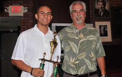 Gary Blades Memorial Trophy winner Shawn Ramos