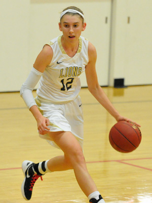Providence Hall senior Sydney Hedges has averaged 30 points during the Lions' CIF playoff games.