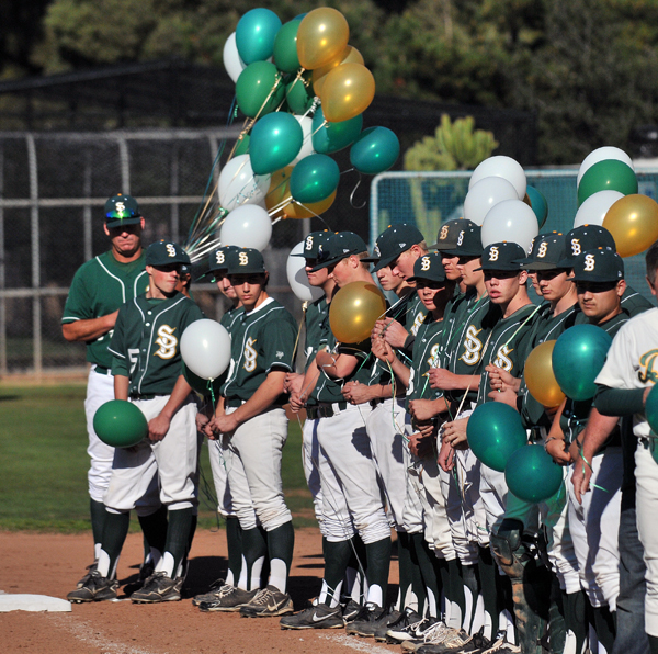 Dozens of players in the Santa Barbara High baseball program lined up on the first-base line to honor Simon Chavez