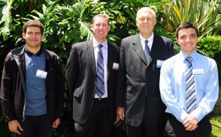 Abraham Moreno, Aaron Brown, Dr. Gary Cunningham, and Daniel Giordani