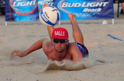 Hawk Hatcher attempts to get under a short ball on Sunday.