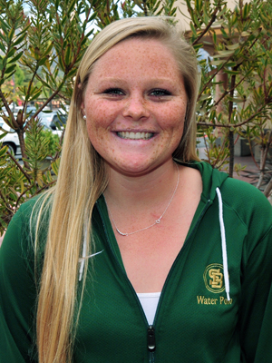 Anna Brummett of Santa Barbara High water polo is the female Athlete of the Week.
