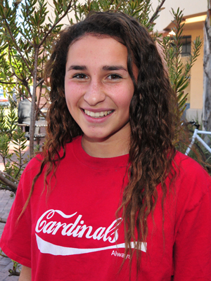 Jill Giannini led Bishop Diego to three soccer victories.