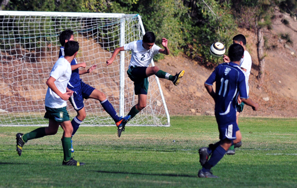 Santa Barbara and San Marcos combined to score six goals in the boys frosh/soph game.