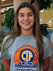 Santa Barbara High's Amber Melgoza was recognized as the Female Athlete of the Week