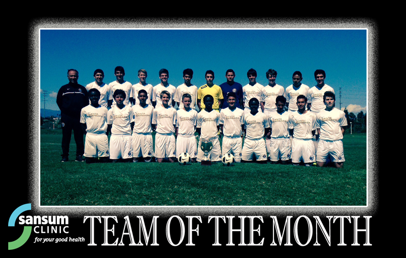 Santa Barbara Soccer Club - Team of the Month