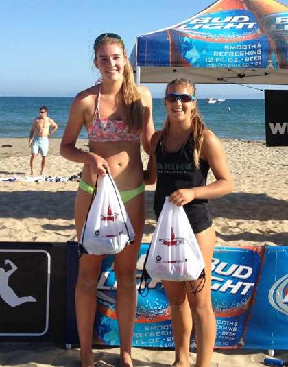 Cousins Torrey Van Winden and Katie Spieler combined to win the CBVA Santa Barbara Women's Open.