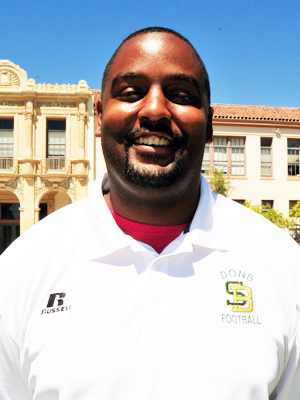 JT Stone is the new veracity football coach at Santa Barbara High.