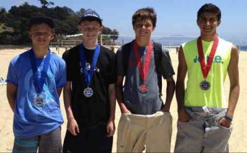 Dane Westwick, left, and Parker Crossland defeated Ben Roach and Curran Malhotra for the Boys U14 title.